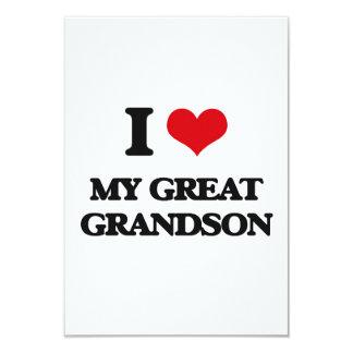 I Love My Great Grandson Custom Announcement Card