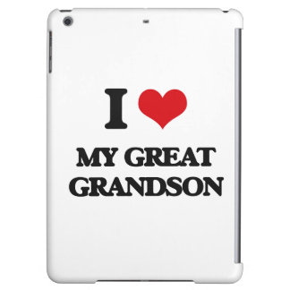 I Love My Great Grandson Cover For iPad Air
