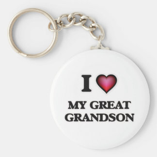 I Love My Great Grandson Keychain