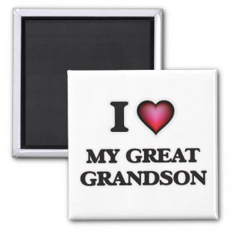 I Love My Great Grandson Magnet