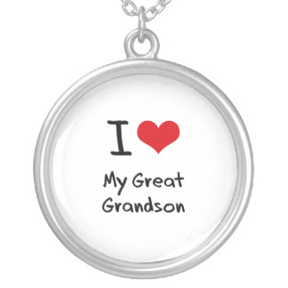 I Love My Great Grandson Necklaces