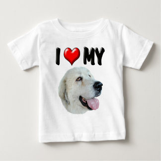 I Love My Great Pyrenees Baby T-Shirt