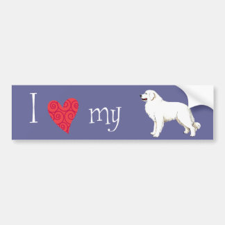 I Love my Great Pyrenees Bumper Stickers