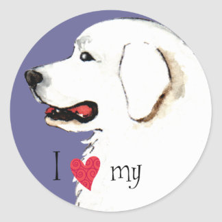 I Love my Great Pyrenees Classic Round Sticker