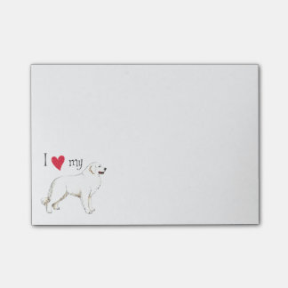 I Love my Great Pyrenees Post-it Notes