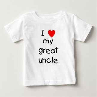 I Love My Great Uncle Baby T-Shirt