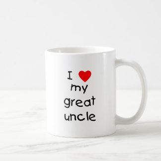 I Love My Great Uncle Classic White Coffee Mug