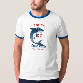 I Love My GREAT WHITE Shark Shirts