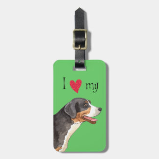 I Love my Greater Swiss Mountain Dog Bag Tag