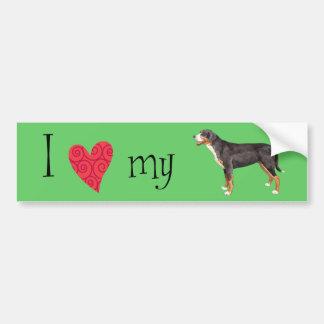 I Love my Greater Swiss Mountain Dog Bumper Sticker