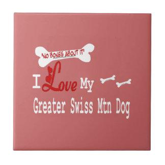 I Love My Greater Swiss Mountain Dog Ceramic Tile