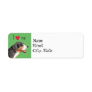 I Love my Greater Swiss Mountain Dog Label