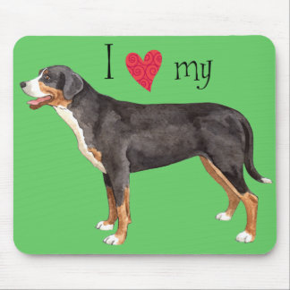 I Love my Greater Swiss Mountain Dog Mouse Pad