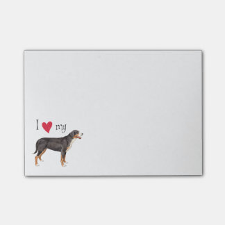 I Love my Greater Swiss Mountain Dog Post-it® Notes