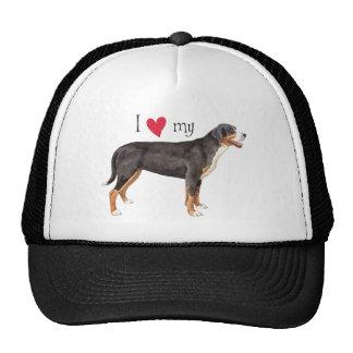 I Love my Greater Swiss Mountain Dog Trucker Hat