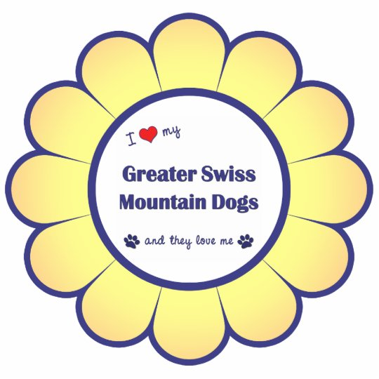 I Love My Greater Swiss Mountain Dogs (Multi Dogs) Statuette