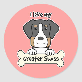 I Love My Greater Swiss Sticker
