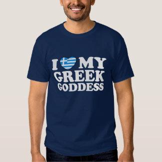 I Love My Greek Goddess T Shirt