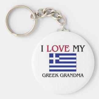 I Love My Greek Grandma Keychain