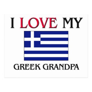 I Love My Greek Grandpa Postcard