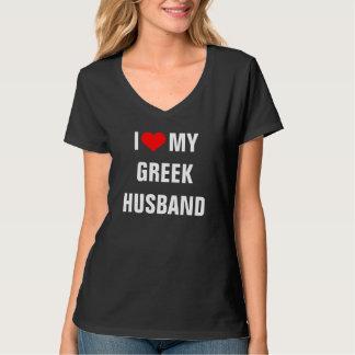 I Love My Greek Husband Tee Shirt