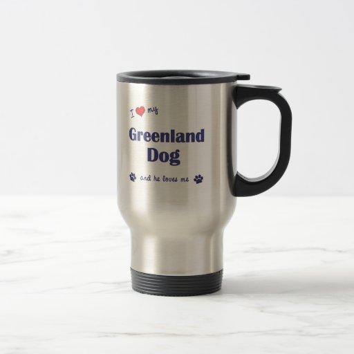 I Love My Greenland Dog (Male Dog) 15 Oz Stainless Steel Travel Mug