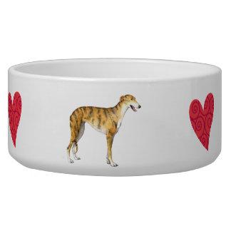 I Love my Greyhound Bowl