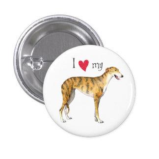 I Love my Greyhound Button