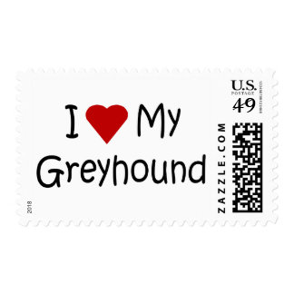 I Love My Greyhound Dog Breed Lover Gifts Postage