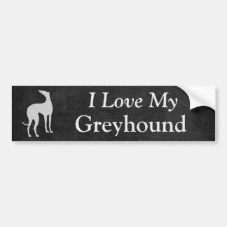 I Love My Greyhound Dog Bumper Sticker