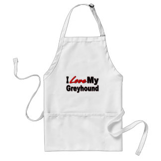 I Love My Greyhound Dog Gifts and Apparel Adult Apron
