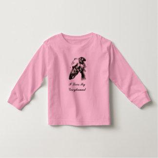 I Love My Greyhound Dog Tee Shirt