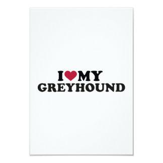 "I love my Greyhound 3.5"" X 5"" Invitation Card"