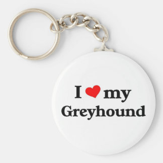 I love my Greyhound Keychain
