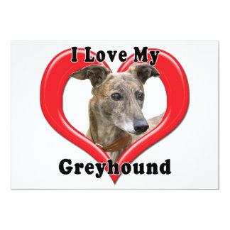 I Love My Greyhound Logo in Heart Card