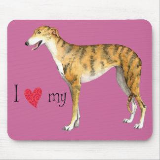 I Love my Greyhound Mouse Pad