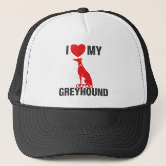 I Love My Greyhound Trucker Hat
