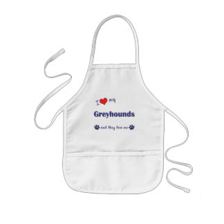 I Love My Greyhounds (Multiple Dogs) Kids' Apron