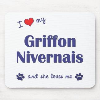 I Love My Griffon Nivernais (Female Dog) Mouse Pad