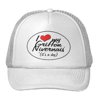 I Love My Griffon Nivernais (It's a Dog) Trucker Hat