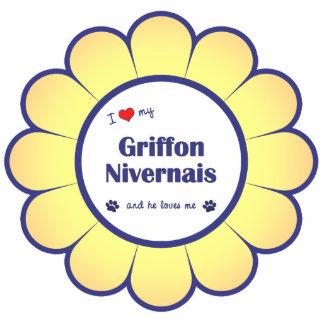 I Love My Griffon Nivernais (Male Dog) Cut Out