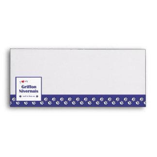I Love My Griffon Nivernais (Male Dog) Envelopes