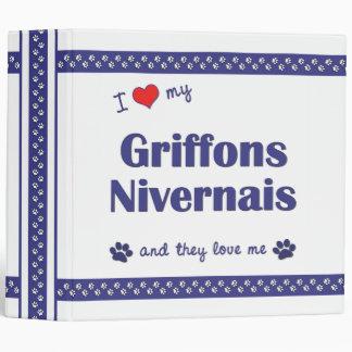 I Love My Griffons Nivernais (Multiple Dogs) Vinyl Binder