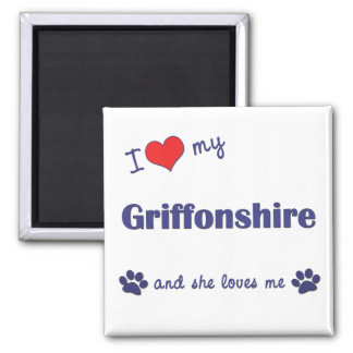 I Love My Griffonshire (Female Dog) Refrigerator Magnets