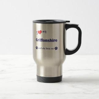 I Love My Griffonshire (Female Dog) Mugs