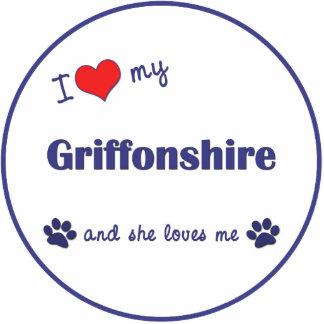 I Love My Griffonshire (Female Dog) Photo Cutouts