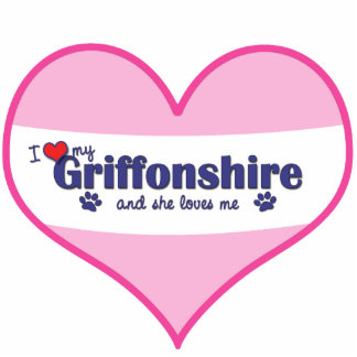I Love My Griffonshire (Female Dog) Acrylic Cut Outs