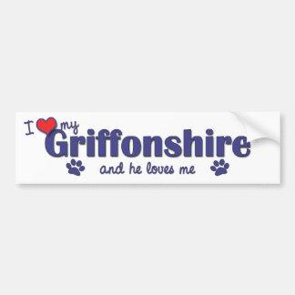 I Love My Griffonshire (Male Dog) Bumper Sticker