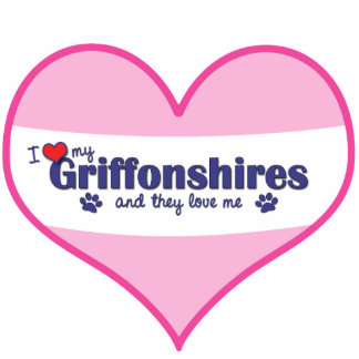 I Love My Griffonshires (Multiple Dogs) Photo Sculptures
