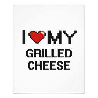 """I Love My Grilled Cheese Digital design 4.5"""" X 5.6"""" Flyer"""
